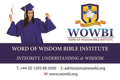 Word Of Wisdom Bible Institute