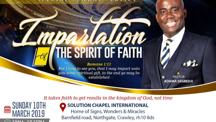 IMPARTATION OF THE SPIRIT OF FAITH
