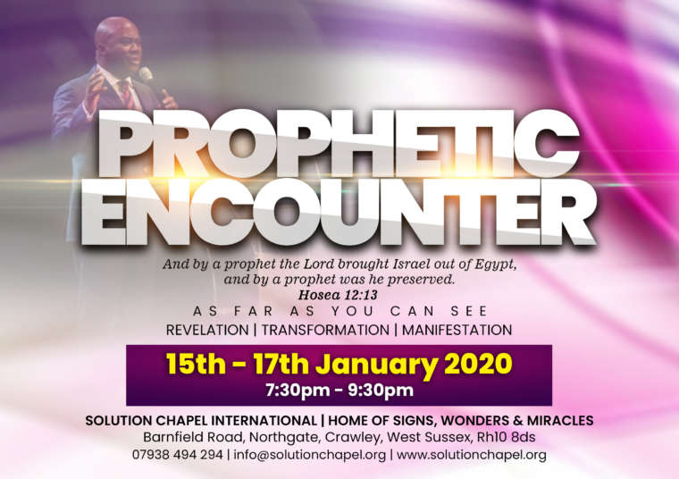 PROPHETIC ENCOUNTER – AS FAR AS YOU CAN SEE