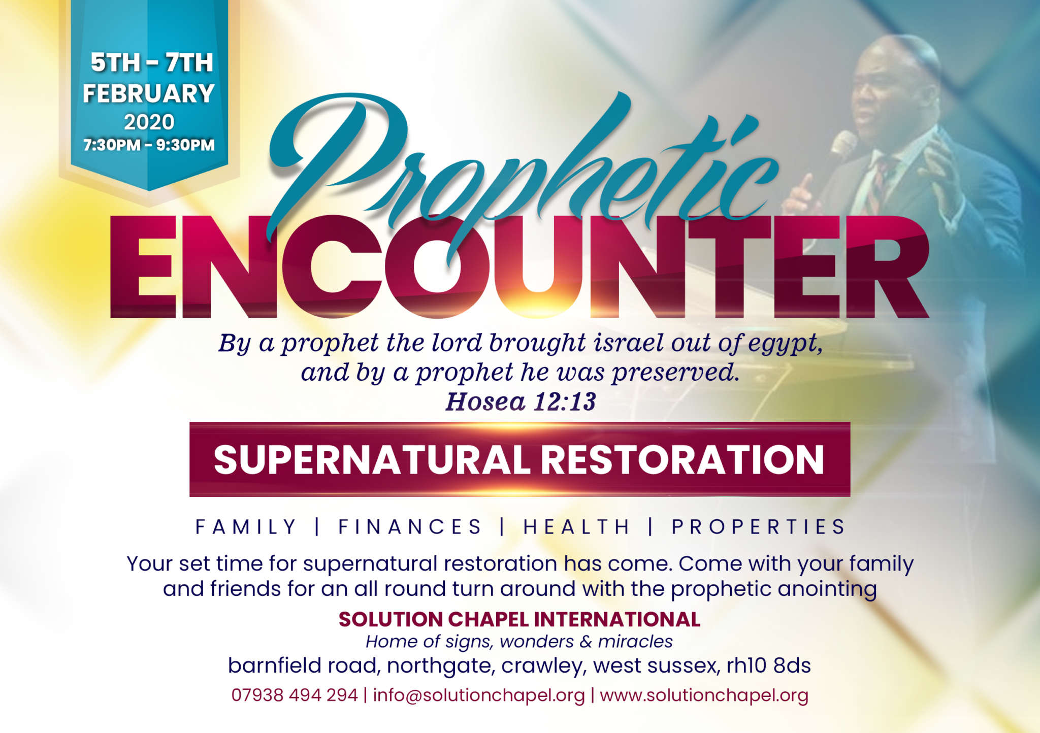 """PROPHETIC ENCOUNTER - SUPERNATURAL RESTORATION """