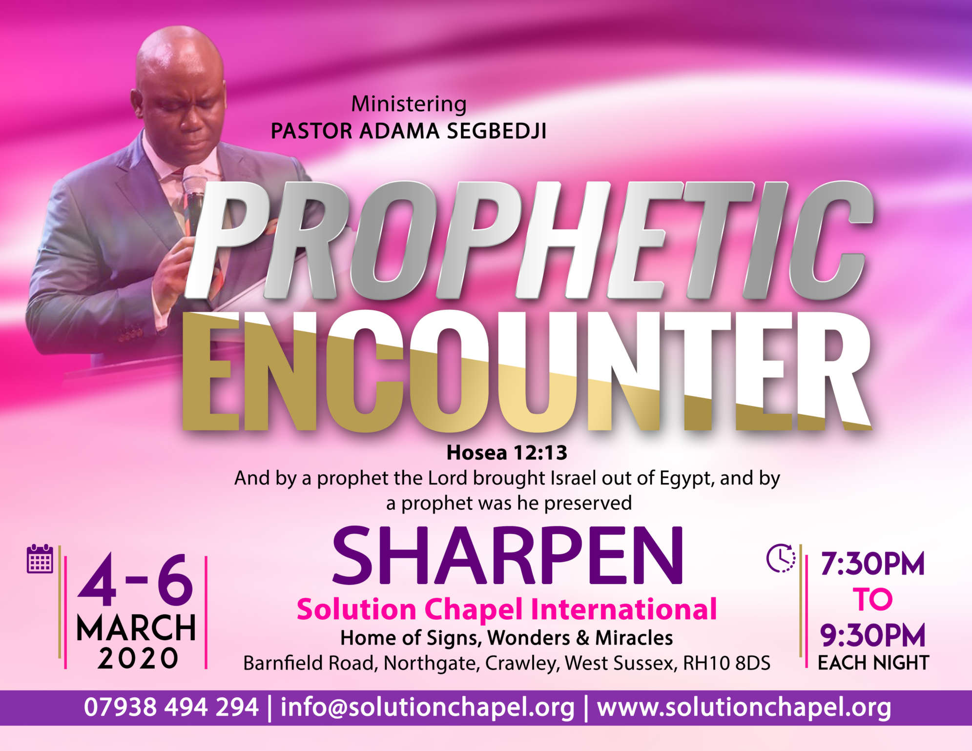 """MARCH PROPHETIC ENCOUNTER"""