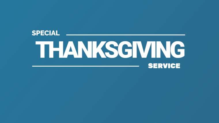 Special Thanksgiving Service