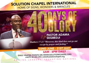 40 Days of Glory – Day 8