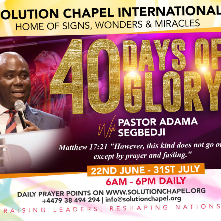 Welcome to 40 Days of Glory 2020