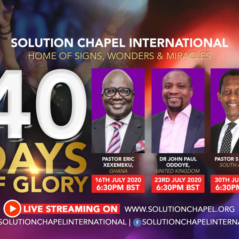 40 Days of Glory  – Day 39