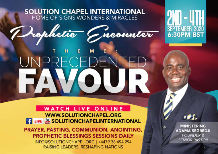 Prophetic Encounter | Unprecedented Favour