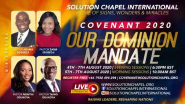 Pre-Covenant 2020 Prayer Points  – Day 3