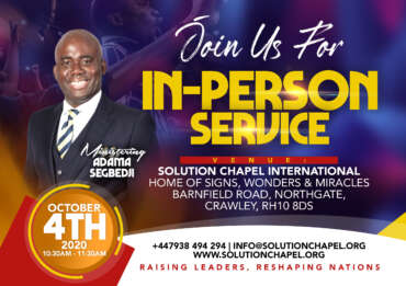 In-Person Service Registration Open
