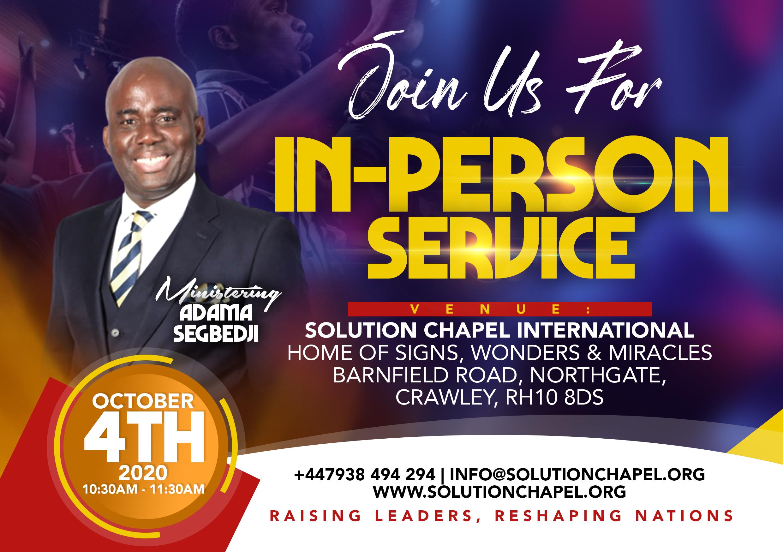 IN - PERSON SERVICE