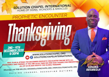 December 2020, Prayer and Fasting – Day 3