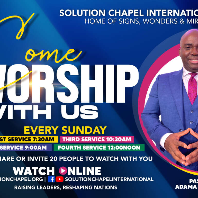 FOUR LIVESTREAM SERVICES EVERY SUNDAY