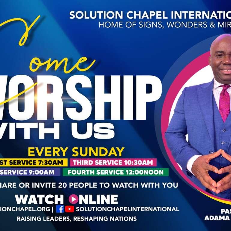 Sunday 1st Service on ZOOM
