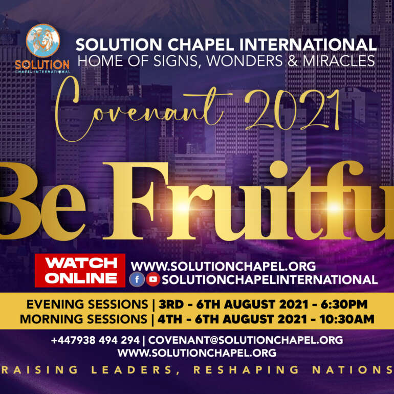Covenant 2021 – BE FRUITFUL