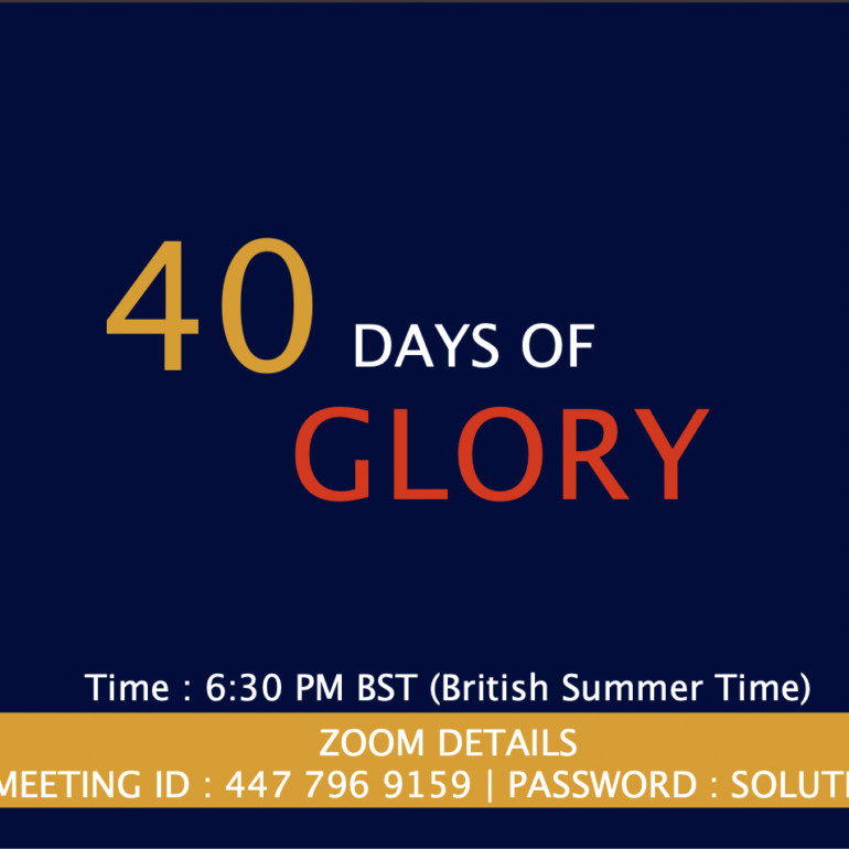 40 Days of Glory 2021, Day 27