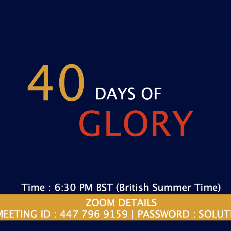 40 Days of Glory 2021, Day 36