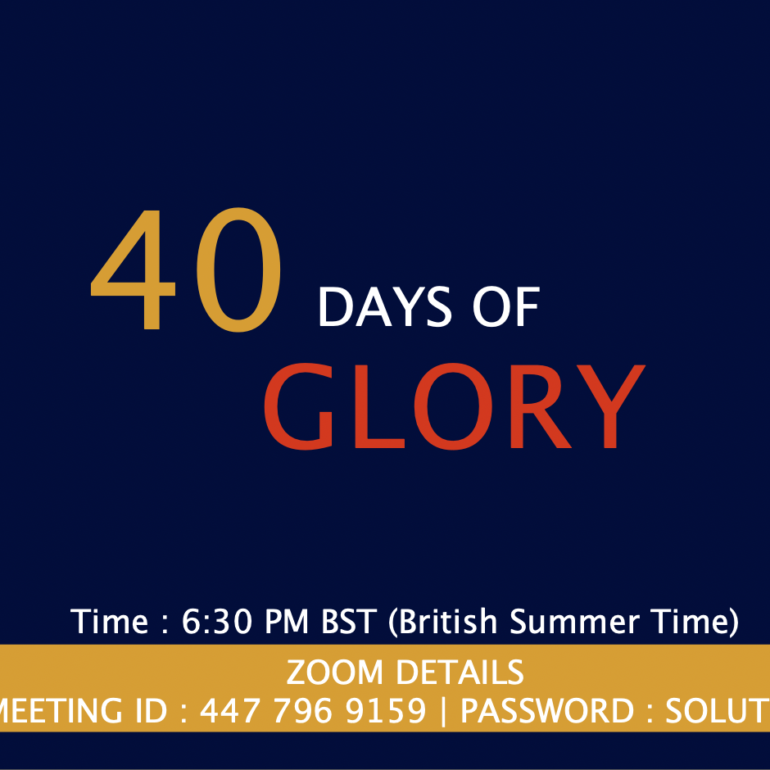 40 Days of Glory 2021, Day 38